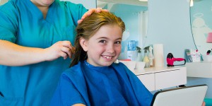 Little Girl at Salon