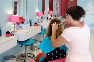 Little Girl Lice Removal